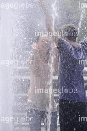 Katie Holmes and Luke Kirby filming 'Mania Days' in the fountain of Washington Square Park in New York City  Featuring: Katie Holmes,Luke Kirby Where: New York, NY, United States When: 21 May 2013 Credit: TNYF/WENN.com