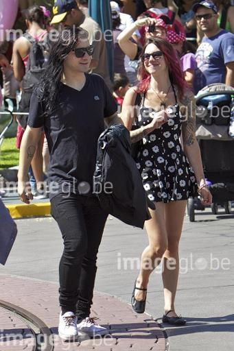 EXCLUSIVE Skrillex spends the day at Disneyland with a female friend. The pair were also joined by DJ Diplo and his son  Featuring: Skrillex Where: Anaheim, CA, United States When: 22 May 2013 Credit: VALPO NNEWs/WENN.com