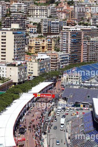 Scenic view of the pits. Monaco Grand Prix, Wednesday 22nd May 2013. Monte Carlo, Monaco.